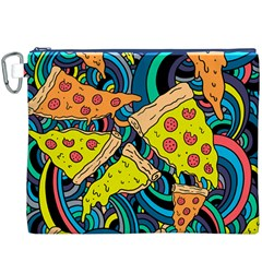 Pizza Pattern Canvas Cosmetic Bag (XXXL)