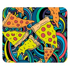 Pizza Pattern Double Sided Flano Blanket (Small)
