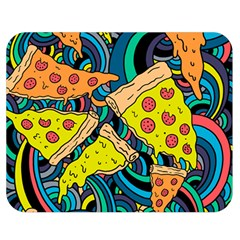 Pizza Pattern Double Sided Flano Blanket (Medium)