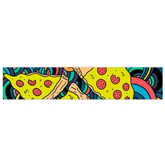 Pizza Pattern Flano Scarf (Small)
