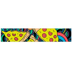 Pizza Pattern Flano Scarf (Large)