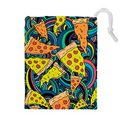 Pizza Pattern Drawstring Pouches (Extra Large)