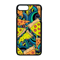 Pizza Pattern Apple iPhone 7 Plus Seamless Case (Black)