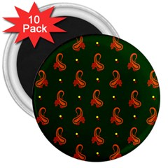 Paisley Pattern 3  Magnets (10 pack)