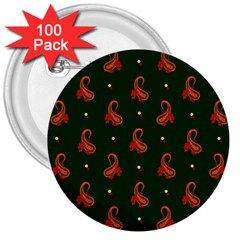 Paisley Pattern 3  Buttons (100 pack)