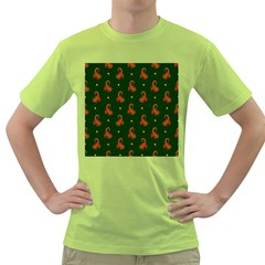 Paisley Pattern Green T-Shirt
