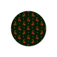 Paisley Pattern Rubber Round Coaster (4 pack)