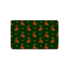 Paisley Pattern Magnet (Name Card)