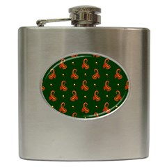 Paisley Pattern Hip Flask (6 oz)