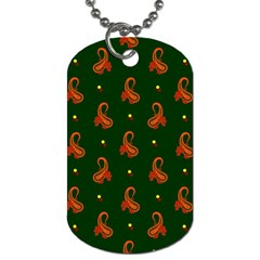 Paisley Pattern Dog Tag (Two Sides)