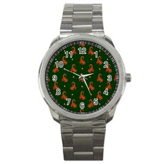 Paisley Pattern Sport Metal Watch