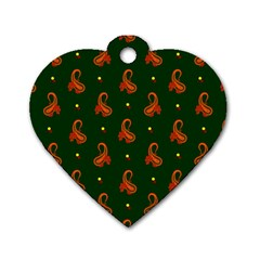 Paisley Pattern Dog Tag Heart (One Side)