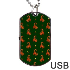Paisley Pattern Dog Tag USB Flash (Two Sides)