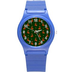 Paisley Pattern Round Plastic Sport Watch (S)