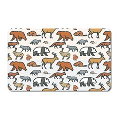 Wild Animal Pattern Cute Wild Animals Magnet (Rectangular)