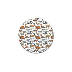 Wild Animal Pattern Cute Wild Animals Golf Ball Marker