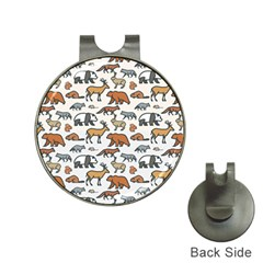 Wild Animal Pattern Cute Wild Animals Hat Clips with Golf Markers