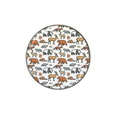 Wild Animal Pattern Cute Wild Animals Hat Clip Ball Marker