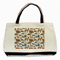 Wild Animal Pattern Cute Wild Animals Basic Tote Bag