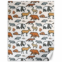 Wild Animal Pattern Cute Wild Animals Canvas 12  x 16