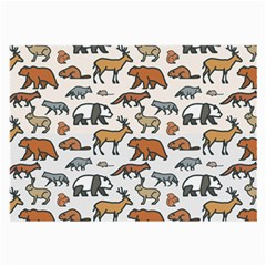 Wild Animal Pattern Cute Wild Animals Large Glasses Cloth (2-Side)