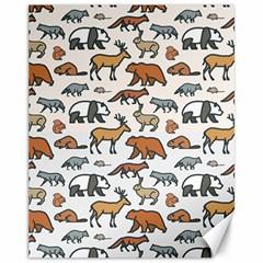 Wild Animal Pattern Cute Wild Animals Canvas 11  x 14