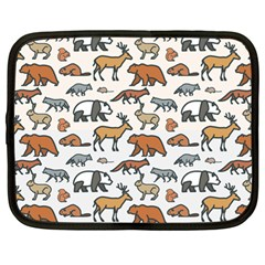 Wild Animal Pattern Cute Wild Animals Netbook Case (Large)