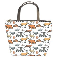 Wild Animal Pattern Cute Wild Animals Bucket Bags