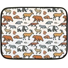 Wild Animal Pattern Cute Wild Animals Fleece Blanket (Mini)