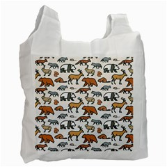 Wild Animal Pattern Cute Wild Animals Recycle Bag (One Side)