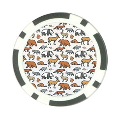 Wild Animal Pattern Cute Wild Animals Poker Chip Card Guards (10 pack)