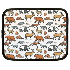 Wild Animal Pattern Cute Wild Animals Netbook Case (XXL)