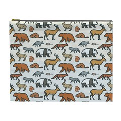 Wild Animal Pattern Cute Wild Animals Cosmetic Bag (XL)