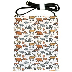 Wild Animal Pattern Cute Wild Animals Shoulder Sling Bags