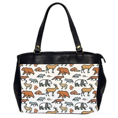 Wild Animal Pattern Cute Wild Animals Office Handbags (2 Sides)