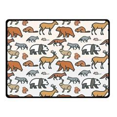 Wild Animal Pattern Cute Wild Animals Fleece Blanket (Small)