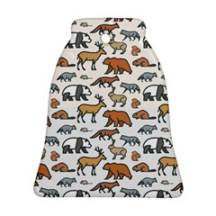 Wild Animal Pattern Cute Wild Animals Ornament (Bell)