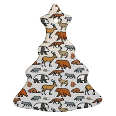 Wild Animal Pattern Cute Wild Animals Christmas Tree Ornament (2 Sides)
