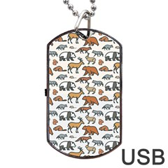 Wild Animal Pattern Cute Wild Animals Dog Tag USB Flash (Two Sides)