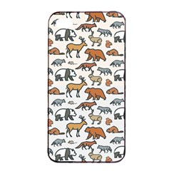 Wild Animal Pattern Cute Wild Animals Apple iPhone 4/4s Seamless Case (Black)
