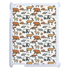 Wild Animal Pattern Cute Wild Animals Apple iPad 2 Case (White)