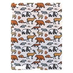 Wild Animal Pattern Cute Wild Animals Apple iPad 3/4 Hardshell Case