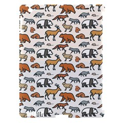 Wild Animal Pattern Cute Wild Animals Apple iPad 3/4 Hardshell Case (Compatible with Smart Cover)