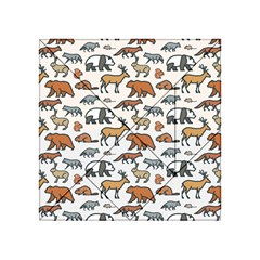 Wild Animal Pattern Cute Wild Animals Acrylic Tangram Puzzle (4  x 4 )