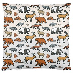 Wild Animal Pattern Cute Wild Animals Large Cushion Case (Two Sides)