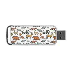 Wild Animal Pattern Cute Wild Animals Portable USB Flash (One Side)
