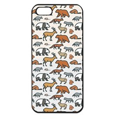 Wild Animal Pattern Cute Wild Animals Apple iPhone 5 Seamless Case (Black)