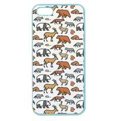 Wild Animal Pattern Cute Wild Animals Apple Seamless iPhone 5 Case (Color)