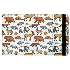 Wild Animal Pattern Cute Wild Animals Apple iPad 3/4 Flip Case