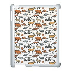 Wild Animal Pattern Cute Wild Animals Apple iPad 3/4 Case (White)